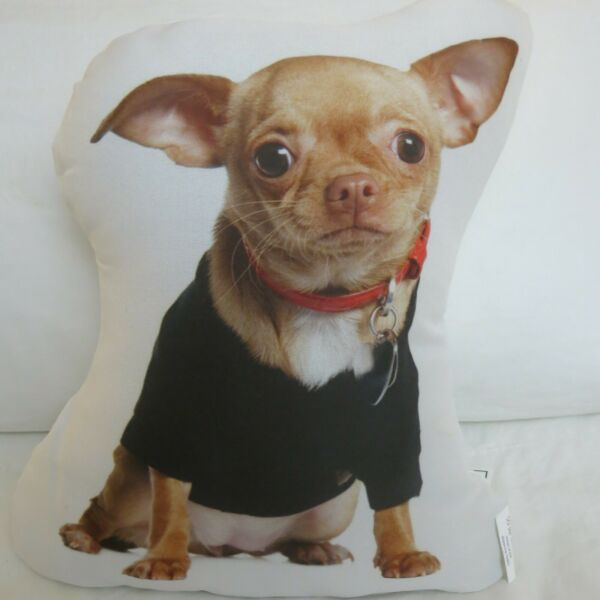 New Chihuahua Puppy Dog Shaped Pillow $12.99