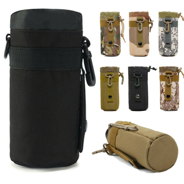 Outdoor Tactical Portable Cup Holder Bag Travel Water Bottle Cover Kettle Pouch $7.99
