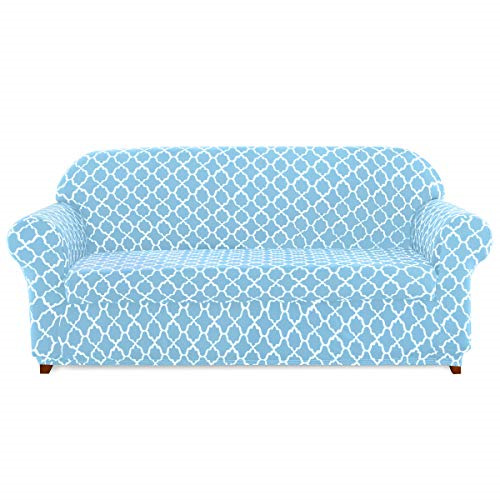 subrtex Sofa Slipcovers Arm Chair Stretch Couch Settee Slip Protector 2 Piece