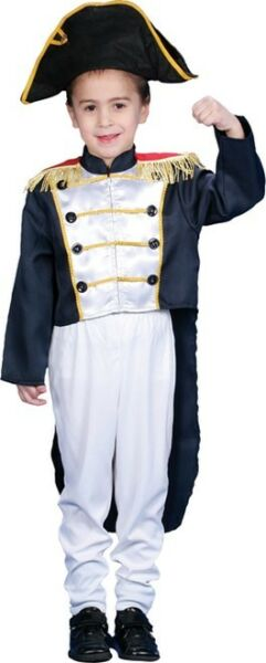 Child#x27;s Historical Colonial General Dress Up Costume Size Medium 8 10 Years $27.99