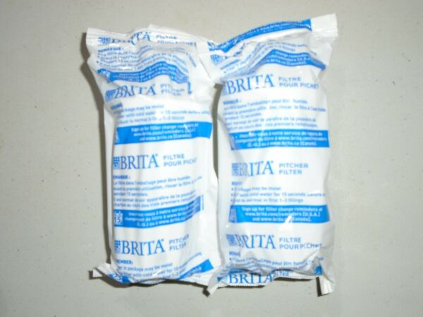 Set of 2 Sealed Brita Replacement Water Filter for Water Pitchers No Box NEW.