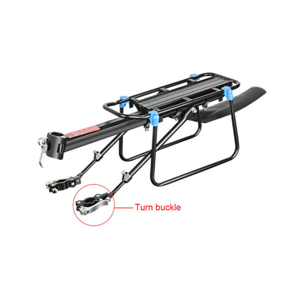Rear Bicycle Rack Cargo Rack Mountain Bike Quick Release Mount Alloy Carrier $18.79