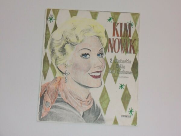 Kim Novak 2 Statuette Dolls amp; Costumes to cut out Saalfield Columbia Pictures $6.99
