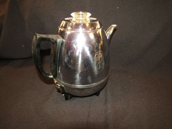 Vintage General Electric GE Automatic Pot Belly Coffee Percolator 18P30