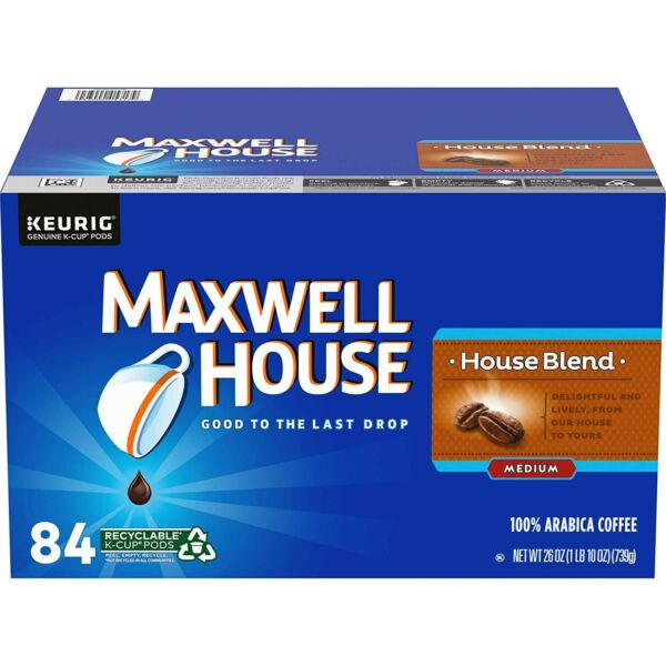 Maxwell House House Blend Keurig K Cup Coffee Pods 84 Count