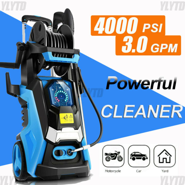 4000PSI 3.0GPM Electric Pressure Washer 2000W. High Power Cleaner Water Sprayer#