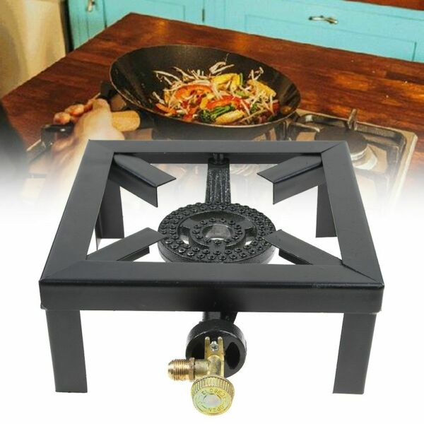Propane Gas Burner Stove Cast Cooker Boiling Ring Camping Catering Tailgating US