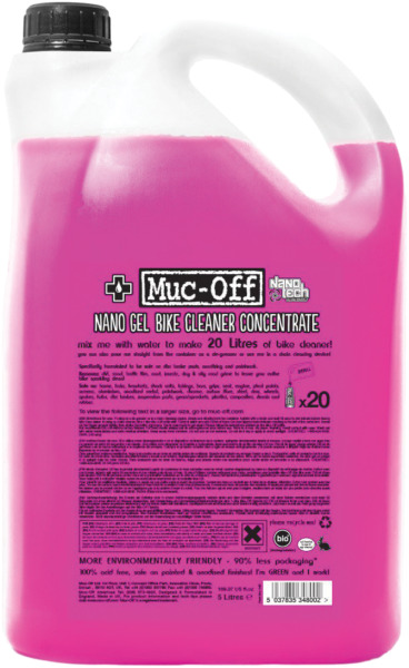 Muc Off Biodegradable Nano Tech Motorcycle Cleaner 5L Concentrate Gel #348 $97.89