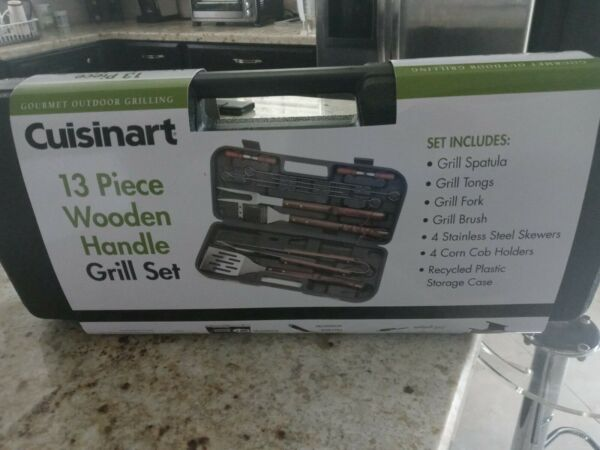 Cuisinart CGS W13 Wooden Handle Tool Set 13 Piece with carry portable case