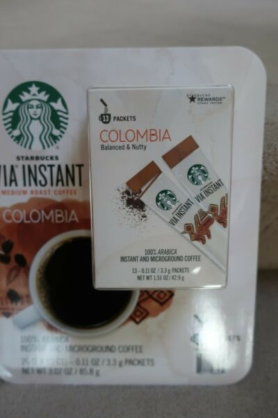 Starbucks VIA Instant Coffee Colombia Blend 2 Boxes 26 Packets EXP 01 19 22