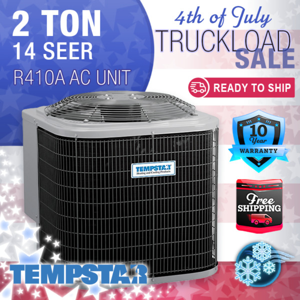 2 Ton 14 SEER Tempstar Home Cooling Air Conditioner Condenser Unit R410A $980.00