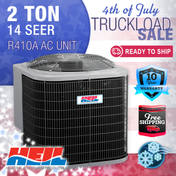 2 Ton 14 SEER Heil Home Cooling Air Conditioner Condenser Unit R410A $980.00