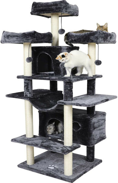 Cat Tree for Large Cats 69 Inches Cat Tower Condo Full Sisal Covered Scratch