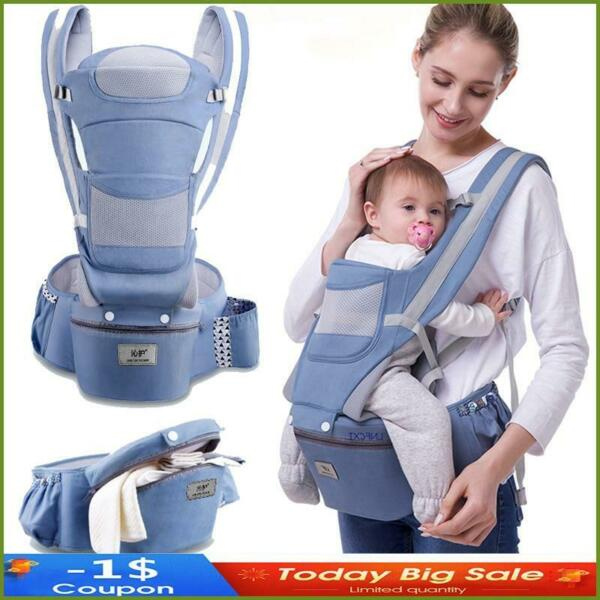 New 0 48 Month Ergonomic Baby Carrier Infant Baby Hipseat Carrier 3 In 1 Front $36.23