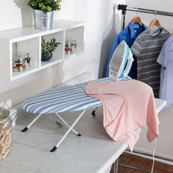 Honey Can Do Portable Folding Tabletop Ironing Board White Blue $15.28