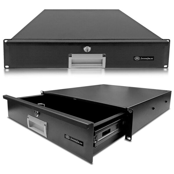 AxcessAbles RKDRAWER2U 2U Universal Rack Mount Drawer Compatible with 19quot; Racks $54.99