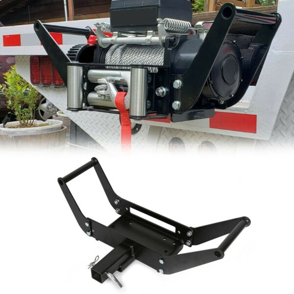Foldable Winch Mounting Plate Cradle Mount For 2#x27;#x27; Hitch Receiver 4WD SUV Truck $47.22