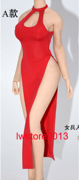 1:6 A Red Cheongsam Dress Clothes For 12quot; Female Phicen TBL JO UD Figure Body