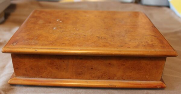 Wooden Box with Hinged Lid