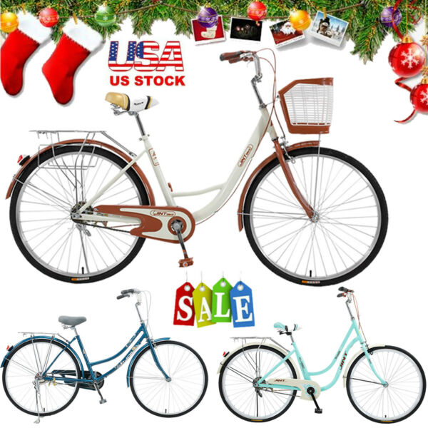 26quot; Lady Classic Retro Bicycle City Bike Urban Commuter Road Bicycle Girls Gift $99.99