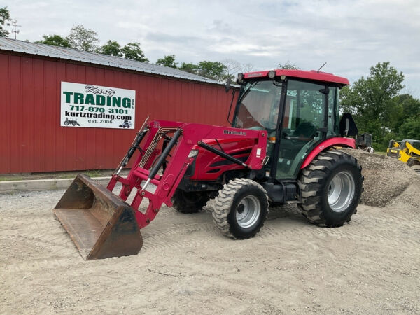 2011 Mahindra 5010 4x4 Hydro 50Hp Compact Tractor w Cab amp; Loader 1400Hrs $23900.00