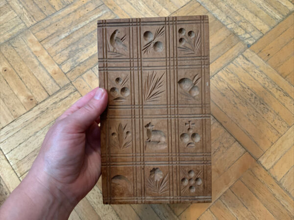 Mid 19th Century Wooden Springer Board W 12 Different Pictorial Molds