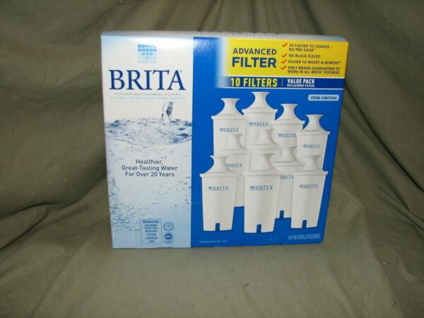 Brita Pitcher Filters 10 Pack Genuine Fits all Models Except the Stream SHIPPED