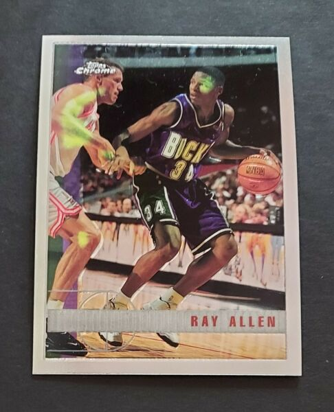 1997 98 Topps Chrome #61 Ray Allen 2nd Year $2.50