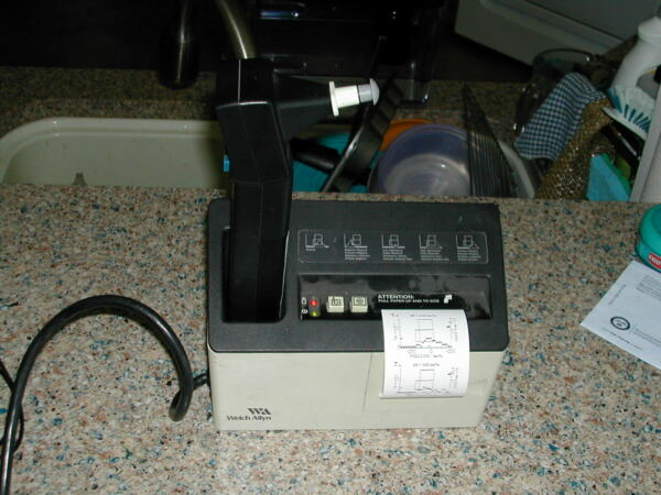 Welch Allyn Micro Tymp working with printer and ear tips