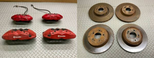 09 16 HYUNDAI GENESIS COUPE BREMBO CALIPER SET CALIPERS WITH ROTORS COMPLETE