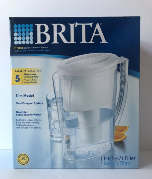 Brita Slim Model Water Filter Pitcher 5 Cup Capacity with Filter New In Box