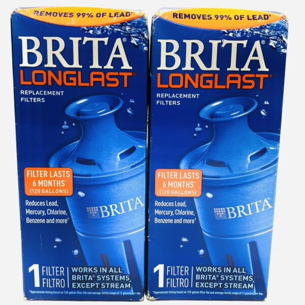 Brita Longlast Replacement Filters for Pitchers Dispensers 2 Filters Sealed
