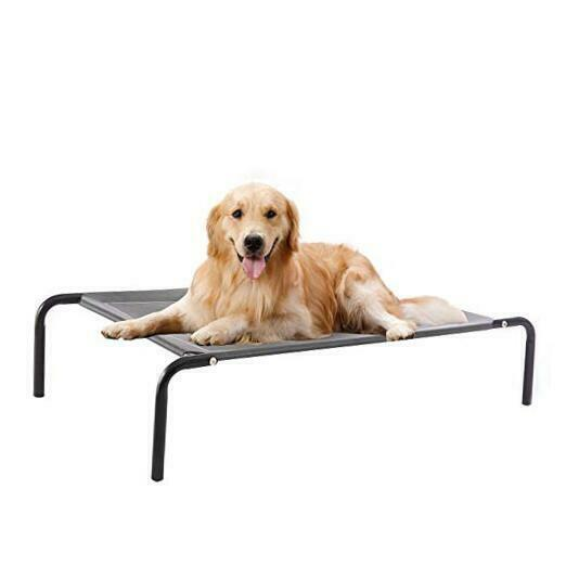Elevated Dog Bed cot Raised Portable Pet Beds for L 49quot;L x 35.5quot;W x 8quot;H Grey $41.10