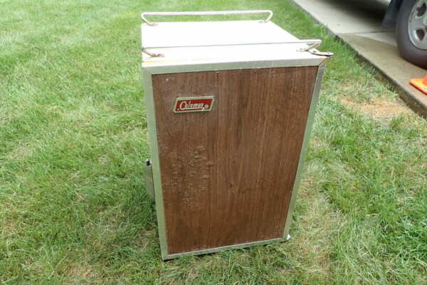 VTG Coleman 3 Way Convertible Cooler Stand Up Ice Chest Brown Ready for Restore