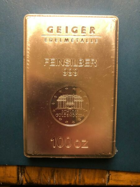 Geiger 100 oz. .999 SILVER quot;Cadillacquot; of SILVER bars