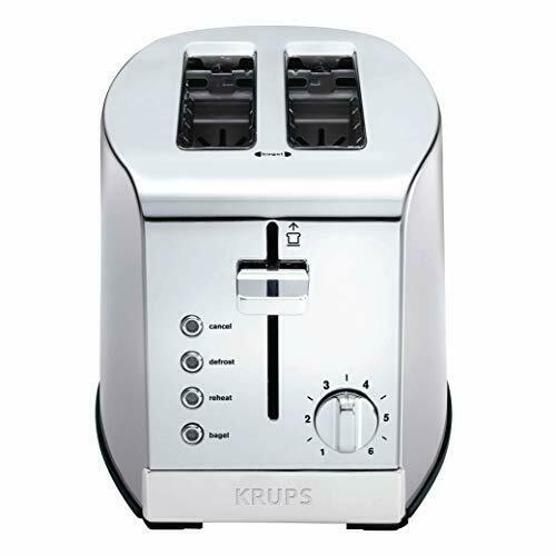 KRUPS KH732D50 2 Slice Toaster Stainless Steel Toaster 5 Functions with Reheat