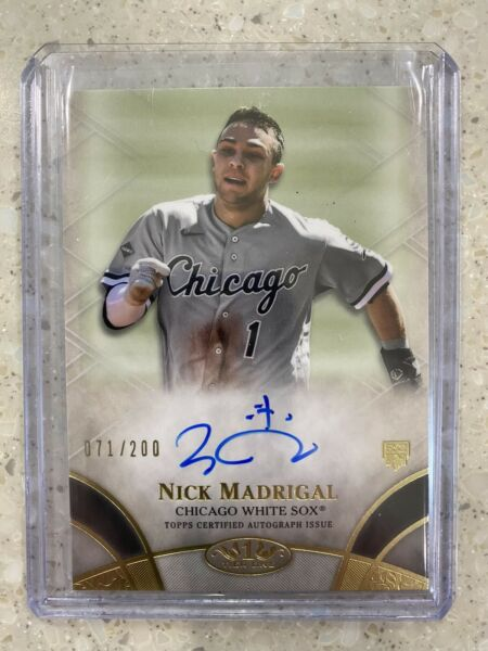 2021 TOPPS TIER ONE NICK MADRIGAL AUTO 200 CHICAGO WHITE SOX #BOA NM ROOKIE $33.99