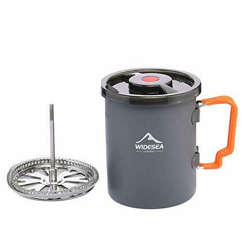 Camping Coffee Pot 750ML with French Press Coffee Maker