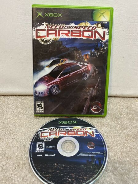 RARE Microsoft Xbox Need For Speed Carbon Game and Case NO MANUAL Tested Works $6.29