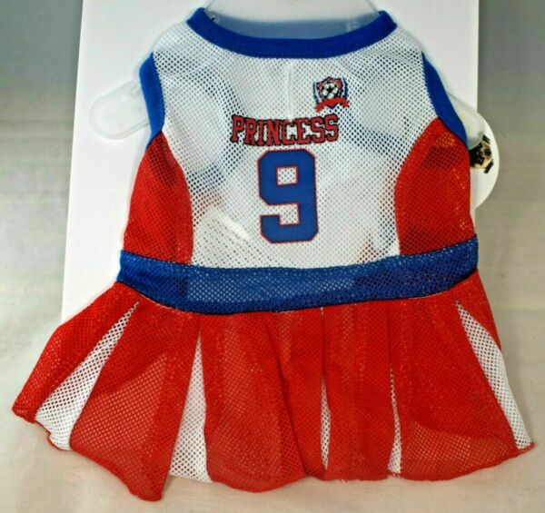Protect Me Pets Red Mesh quot;Princessquot; Cheerleader Outfit Pet Dog Extra Small $12.90