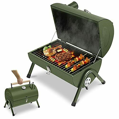 Portable Charcoal Grill Small BBQ Smoker Grill TableTop Barbecue Charcoal Gril