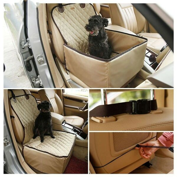 2 in 1 Waterproof Dog Car Front Seat Cover Kennel Pet Dog Protector Hammock Mat $43.99