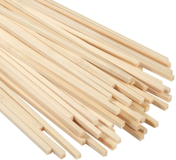 Wood Craft Natural Bamboo Sticks Strips Strong Natural for Craft projects 50 PCS $14.57