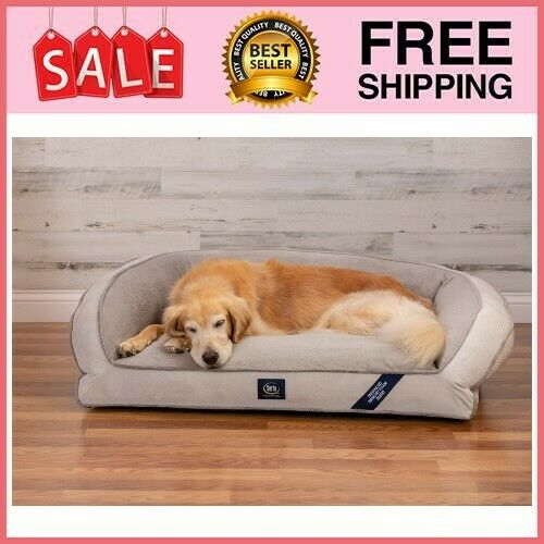 Extra Large Dog Memory Foam Couch Pet Bed Ortho Foam Fill Plush Sleep Surface 44 $43.78
