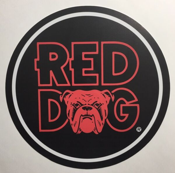 Red Dog Beer 7quot; Metal Circle Sign $8.99