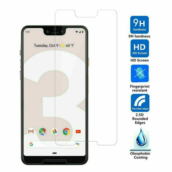 Google Pixel 3 3a 3XL 4 4a 4XL Max Tempered Glass Screen Protector Single Pack $0.99
