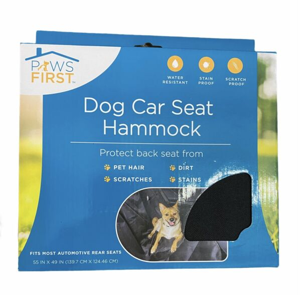 """New Paws First Evriholder Dog Hammock Car Seat Protector 55"""" x 49"""" Fits Most $19.99"""