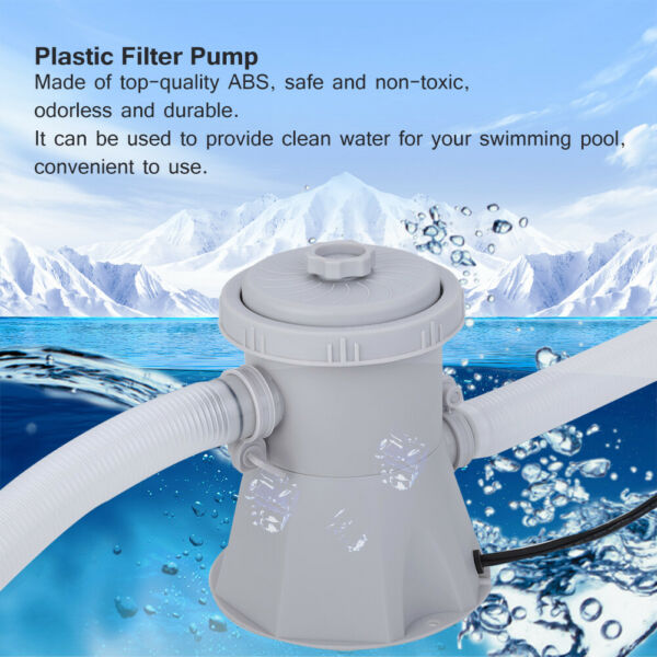 Electric Filter Pump Swimming Pool for Above Ground Pool Water Circulating Tool. $43.99