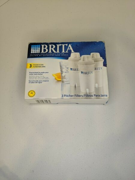 Brita 3 Pack Pitcher Replacement Water Filter Lasts 2 Months 40 Gallon Box damag