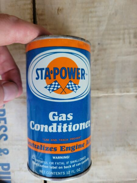 Vintage 1960#x27;s Sta Power Gas Conditioner Oil Can 12 oz Unopened Full QTY 47 $200.00